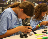 girls working on unidentified STEM project
