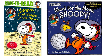 Snoopy goes to space books